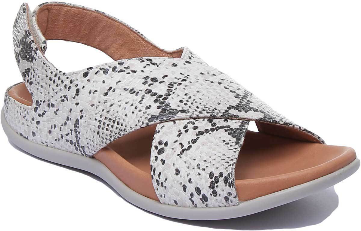 Strive Venice Women Leather Snake Cross Straps Sandals UK Size 3 - 8
