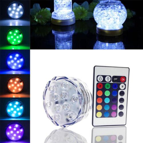 Submersible étanche 10LED Lumière RGB Pour Vase Mariage Fête Fish Tank décors