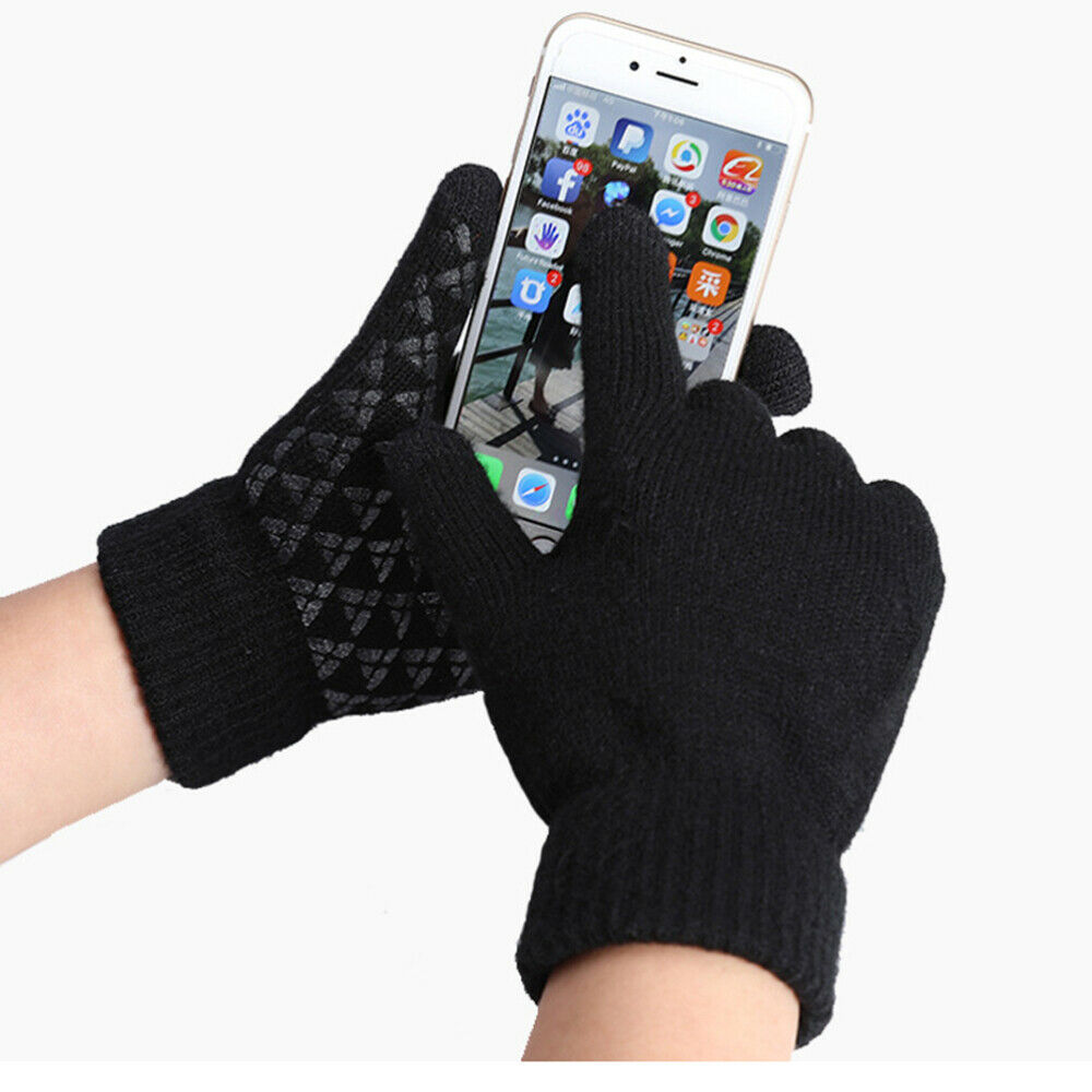 1 Pair Knitted Practical Screen Touch Durable for Skiing