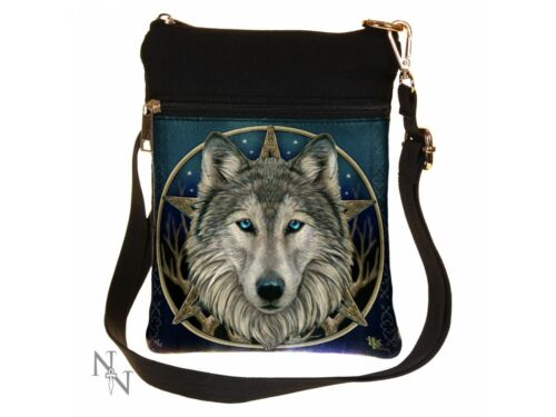NEW SHOULDER BAG /'WILD ONE/' WOLF LISA PARKER SMALL LADIES NEMESIS NOW