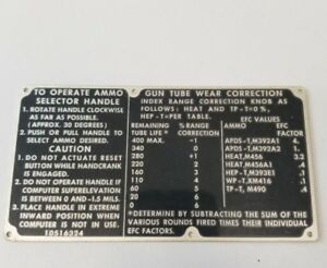 VINTAGE-US-army-air-force-NAVY-WWII-GUN-Instruction-Ammo-Selector-plate-sign