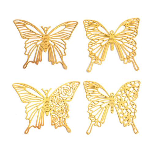 4Pc Butterfly Blank Frame Open Bezel Filling UV Resin Mold Filler Jewelry Making