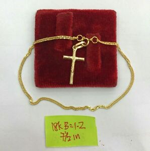 Gold-Authentic-18k-saudi-gold-cross-bracelet-a