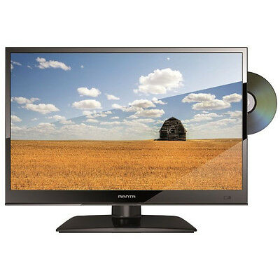 """Manta 15.6"""" Inch LED 12v TV With Digital Freeview Built In DVD Player USB Record"""