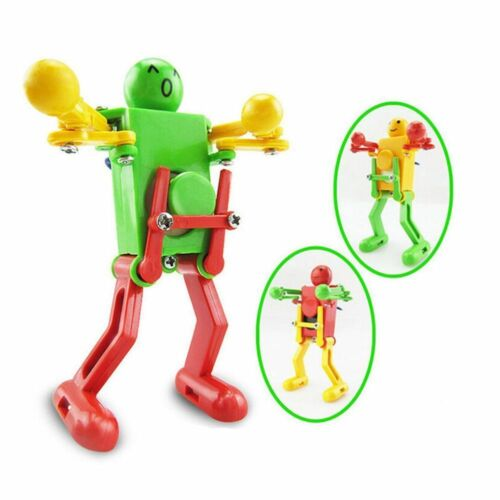 Girls Boys Dancing Clockwork Spring Wind Up Robot Toy For Children Kids Gift