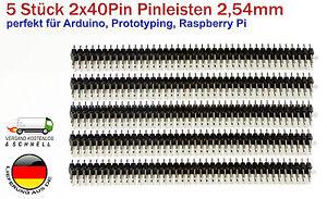 5-Stueck-Pinleisten-je-2x40Pin-2-54mm-fuer-Arduino-Prototyping-Elektronik-Robotik