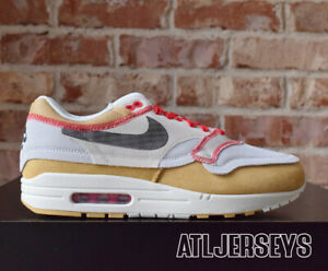 Details about Nike Air Max 1 Premium SE Inside Out Club Gold Black 858876 713 Size