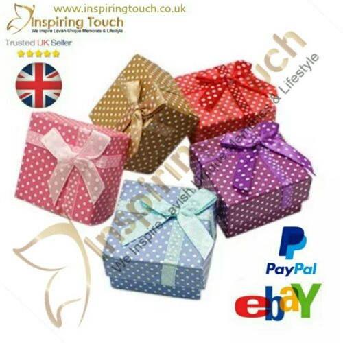 Brand New Polka Dot 1,12,50,100 Jewellery,Favour,Wedding,Party Gift Boxes