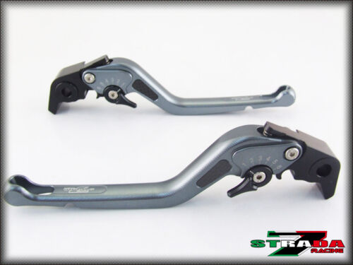 BMW R1200GS Adventure 201418 Strada 7 Adjustable Long Carbon Inlay Levers Grey