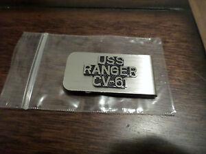 U.S MILITARY NAVY U.S.S RANGER CV-61 MONEY CLIP NAVY CARRIER U.S.A MADE