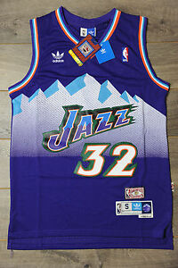 sneakers for cheap 514b7 fa88a Details about Karl Malone #32 Utah Jazz Jersey Swingman Classics Retro New  Purple Mens