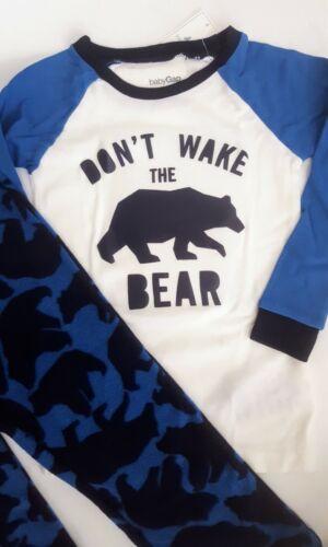 Gap BabyGap Boy/'s Bear Winter Pajama Set 12 18 24 2 3 Cotton Top Fleece Bottom