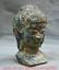 7-2-034-Bronze-Ware-Tibet-Bouddhisme-Shakyamuni-Amitabha-Bouddha-Tete-Buste-Statue miniature 6