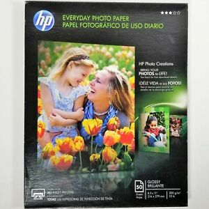 HP 8.5 x 11 Everyday Glossy Photo Paper 50 Sheets Q8723A