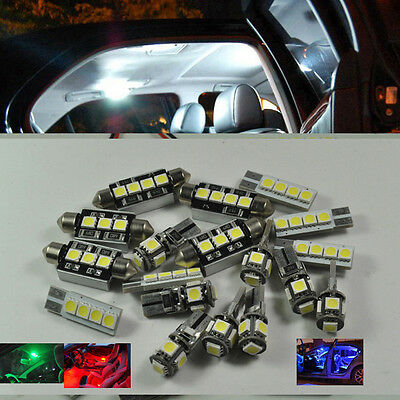 Error Free White 22 LED Interior Light Kit For Audi A4 S4 AVANT B6 B7  2002-2008