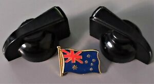 """1 PAIR (2) """"CHICKEN HEAD"""" STYLE CONTROL KNOBS, BLACK,  NEW, FREE POSTAGE"""