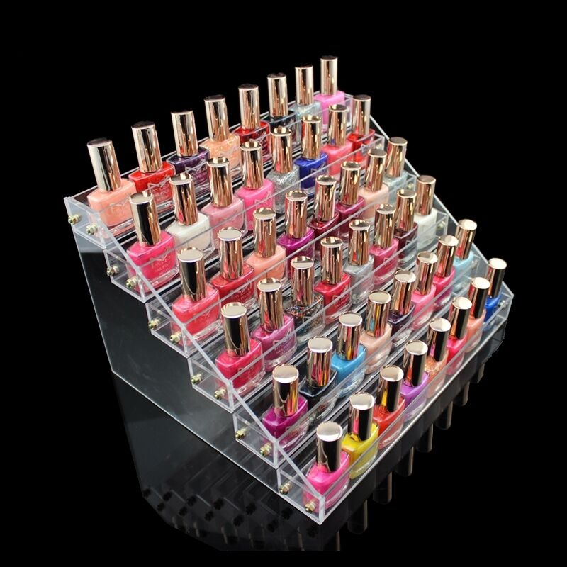 6 Tiers Clear Acrylic Nail Polish Cosmetic Display Stand Rack Organizer Storage Ebay