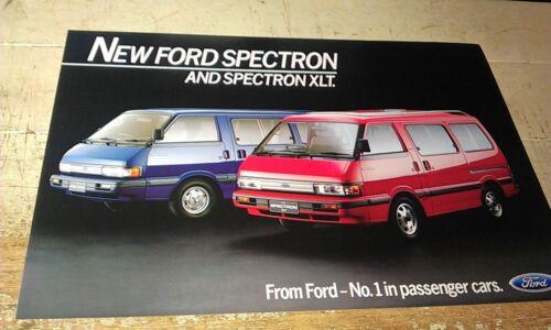 1987  FORD SPECTRON VAN  Australian Sales Leaflet RARE