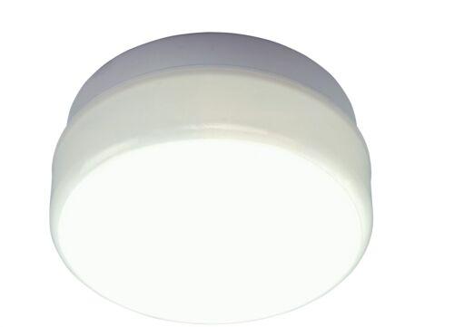 White Base ASD AC//WL100 Circular External Bulkhead Light Fitting