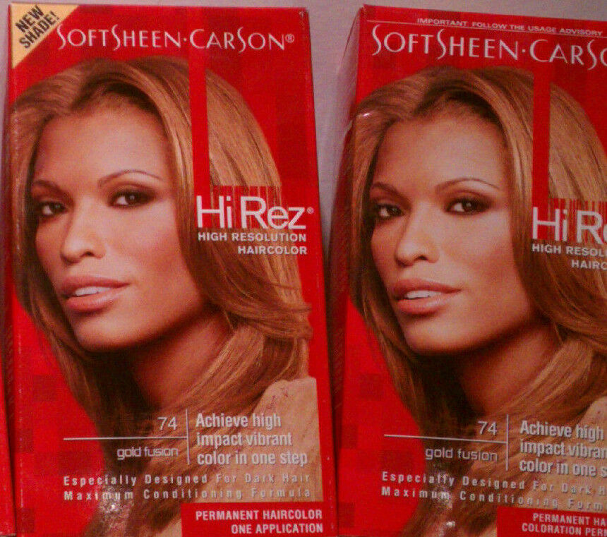 2 Soft Sheen Carson Hi Rez High Resolution Hhair Color 74 Gold