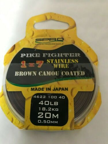spro Pike Fighter 1x7 Brown Coated Wire