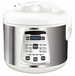 multikocher 5 liter edelstahl schnellkochtopf reiskocher kochautomat cooker neu ebay. Black Bedroom Furniture Sets. Home Design Ideas