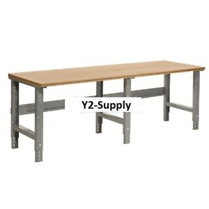 Incredible Details About New 96W X 36D Shop Top Square Edge Work Bench Adj Hgt 1 1 2 Top Gray Ibusinesslaw Wood Chair Design Ideas Ibusinesslaworg