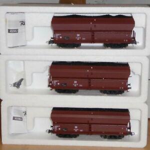 Roco-45982-H0-Set-3-Stueck-Selbstentladewagen-OOtu-der-DR-Ep-3-in-OVP-sehr-gut