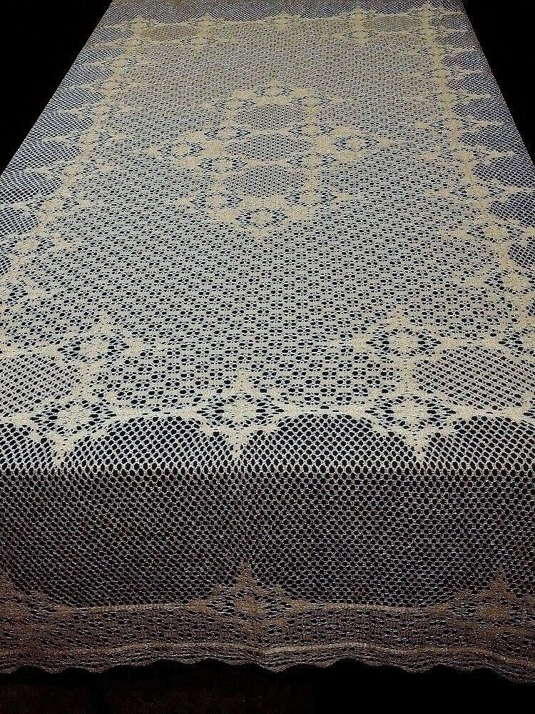 Dentelle Nappe Antique Or Crochet Style Carmen 70  X 90  salle de mariage