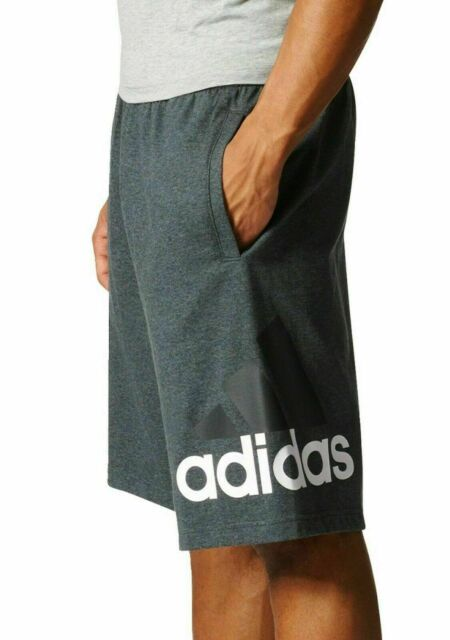 adidas Men's Training Athletics Jersey Shorts Br1450 Dark Grey ...