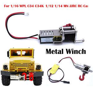 Neu-Metallwinde-amp-Steuerkabel-fuer-1-16-WPL-C34-C34K-1-12-1-14-MN-JJRC-RC-Truck