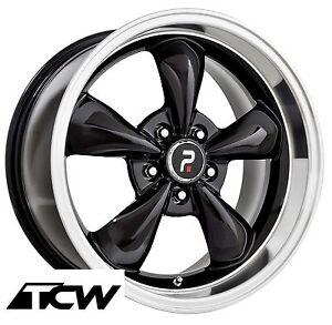 4 17x8 Inch Bullitt Replica Black Wheels Rims 5x4 50 Fit Ford