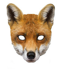 FOX ANIMAL 2D CARTA PARTY Face Mask Fancy Dress Up