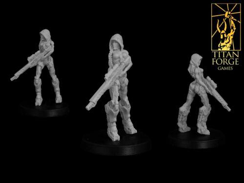 Titan Forge TFXT03 X-Terra Space Force Terra Assassin Female Sniper Hero Marine