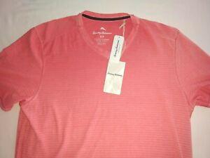 NWT Tommy Bahama Cirrus Coast Vneck SS T-Shirt Sz Small Cotton Stretch $74