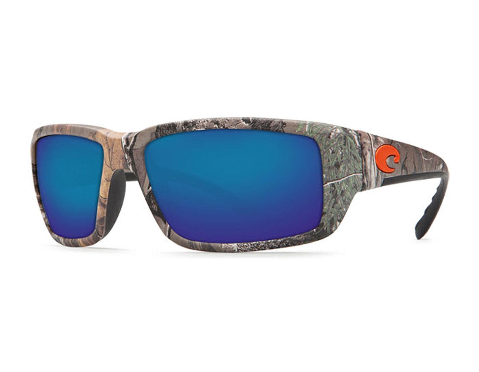 New Costa Del Mar TF69OBMP Fantail Realtree bluee Mirror Glass 580p Sunglasses