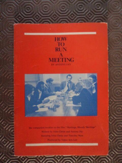 How to Run a Meeting by Antony Jay Video Arts 1976