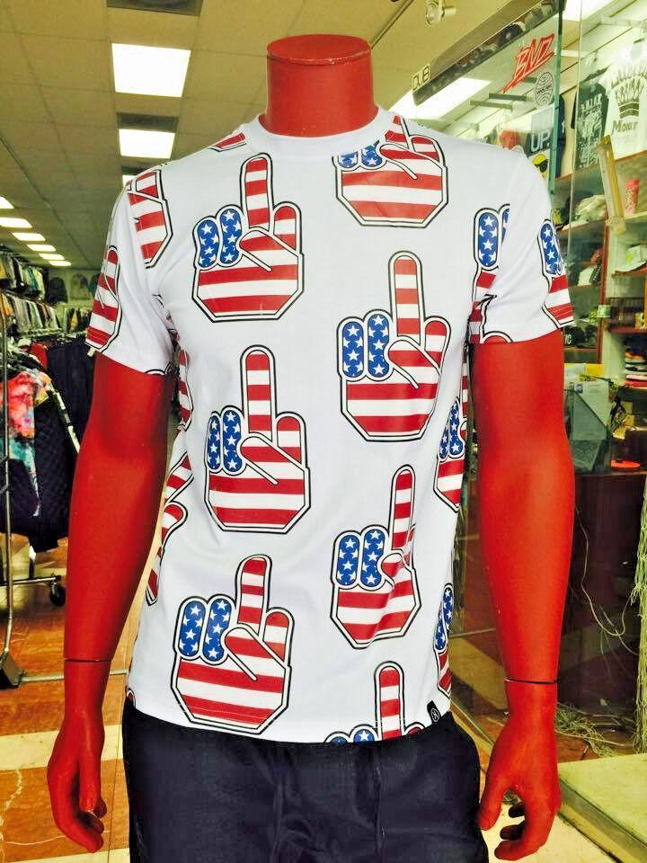 Men's White American Flag Tee Shirt by Hudson