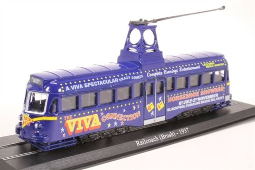 "BLACKPOOL BRUSH RAILCOACH TRAM /""VIVA/"" NIGHTCLUB LIVERY 1937 1//76 DIECAST"