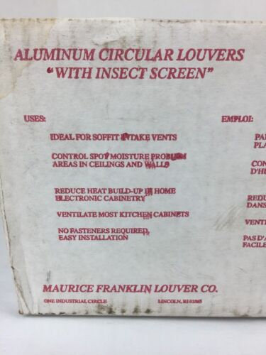 "USA 6/"" MF All Aluminum Screened Louvers Sealed New 12 Pack White Finish"