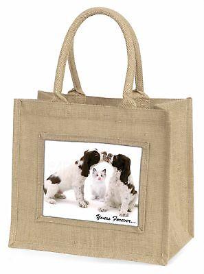 Hunde und Katze  dir für immer  Große natürliche jute-einkaufstasche