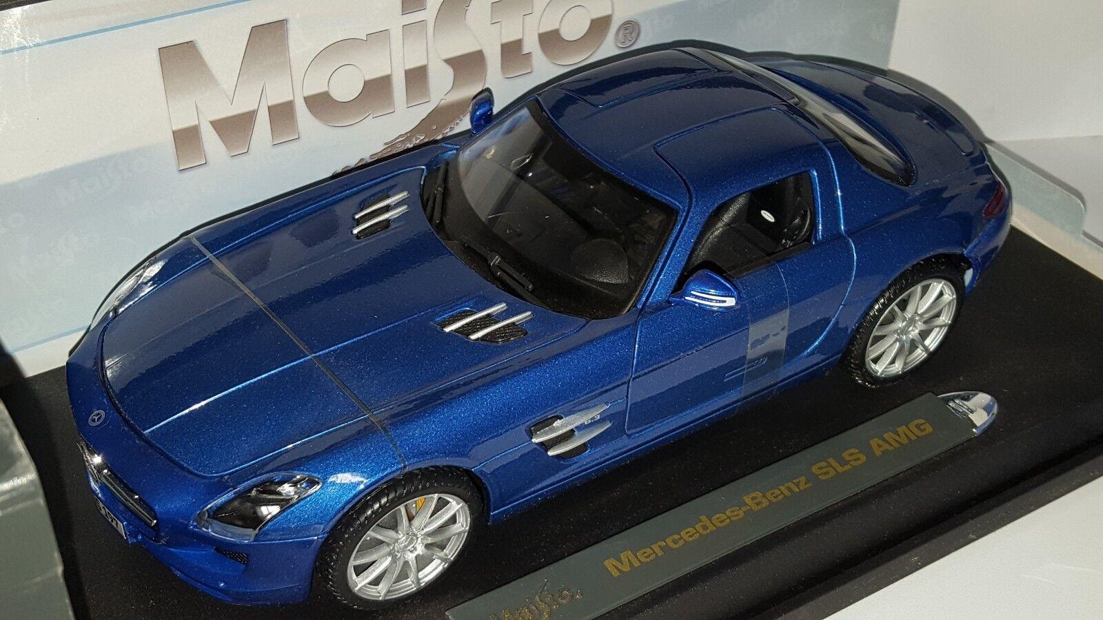 1 18 MAISTO PREMIERE EDITION MERCEDES-BENZ SLS AMG blueE bd