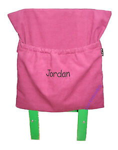 Personalised-Made-to-order-School-Chair-Bag-fully-lined-washable-COLOUR-Choice