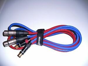 2 Stück Profi-Audiokabel XLR 5m rot+schwarz SC Club Series MK II+Neutrik-XLR