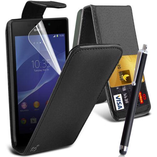 Bolsa Estuche Flip Cuero PU Cubierta Para Teléfono Móvil Sony Xperia M4 Aqua