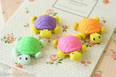 Turtle Eraser kawaii cute cartoon mini rubbers kids pen buddy school office use