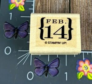 Stampin' Up! Feb 14 Valentines Rubber Stamp Brackets Love Holiday Wood #B14