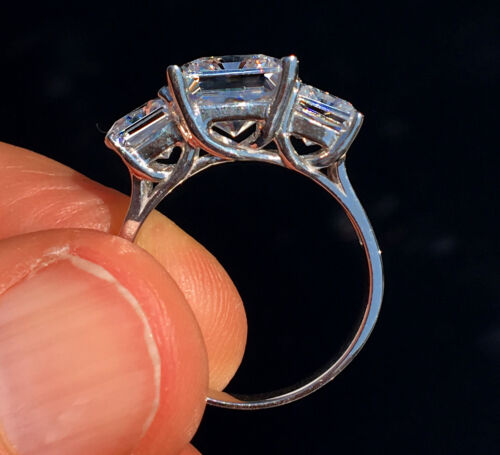 7 ct Radiant Cut Ring Top Russian Quality CZ Simulated Mossanite Imitation 6