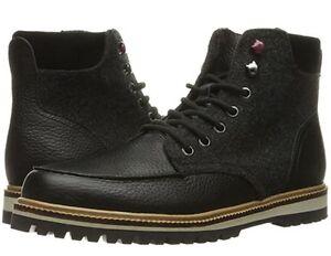 5e76e95b10498 Lacoste Montbard Boot 316 2 Leather Sneaker Shoe Black Men Sz 10.5 ...