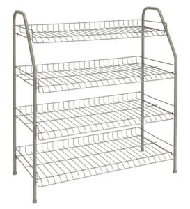 Merveilleux Image Is Loading ClosetMaid SHOE RACK 4 TIER NICKEL